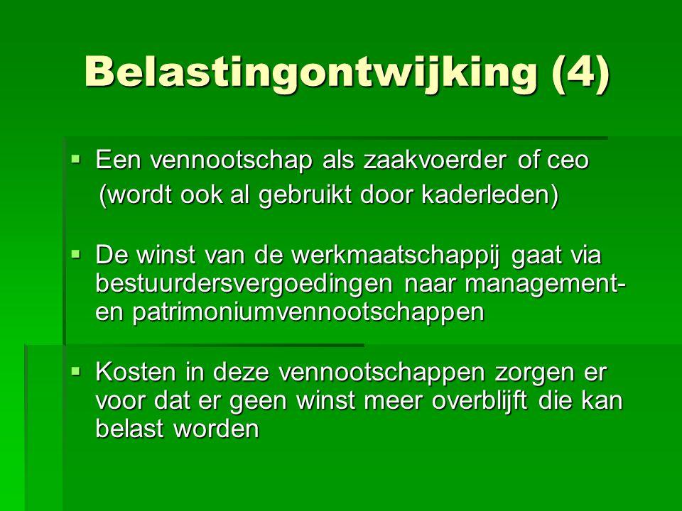 Belastingontwijking (4)