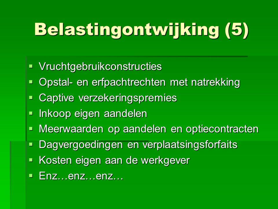 Belastingontwijking (5)