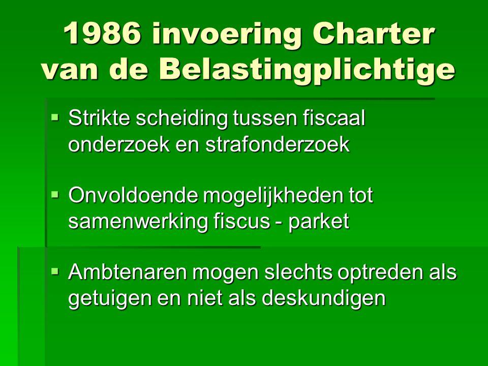 1986 invoering Charter van de Belastingplichtige