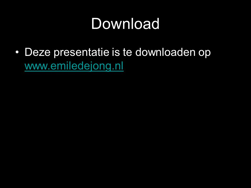 Download Deze presentatie is te downloaden op