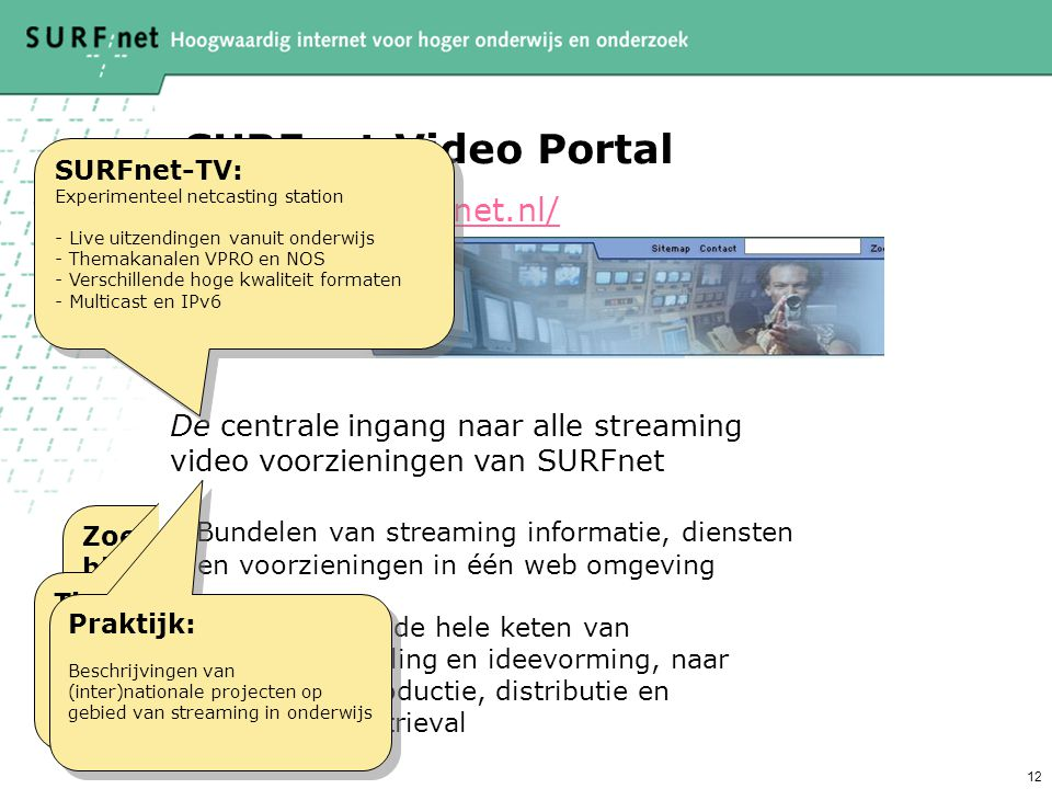 SURFnet Video Portal http://video.surfnet.nl/