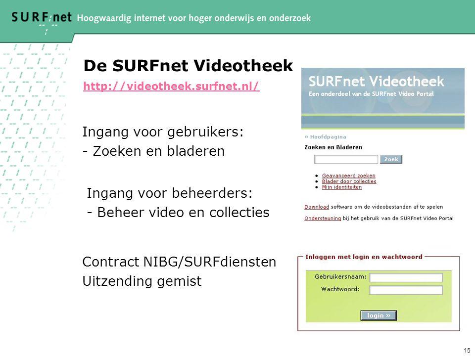 De SURFnet Videotheek http://videotheek.surfnet.nl/