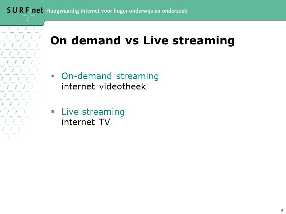 On demand vs Live streaming