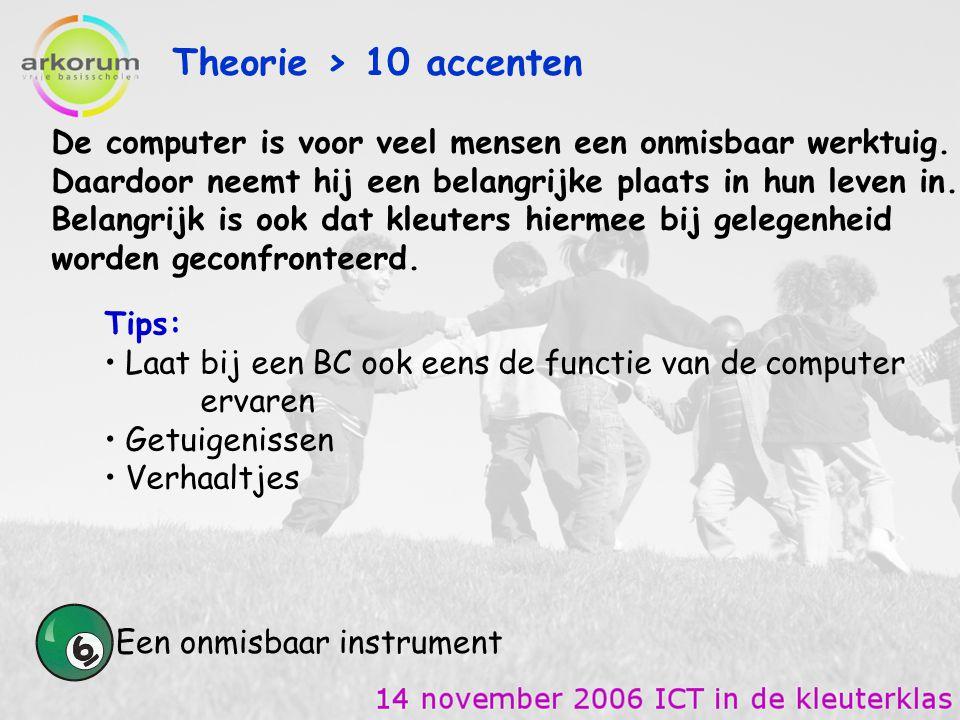 Theorie > 10 accenten