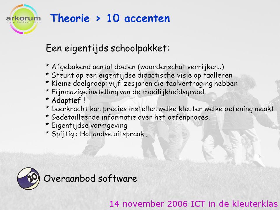 Theorie > 10 accenten Een eigentijds schoolpakket: