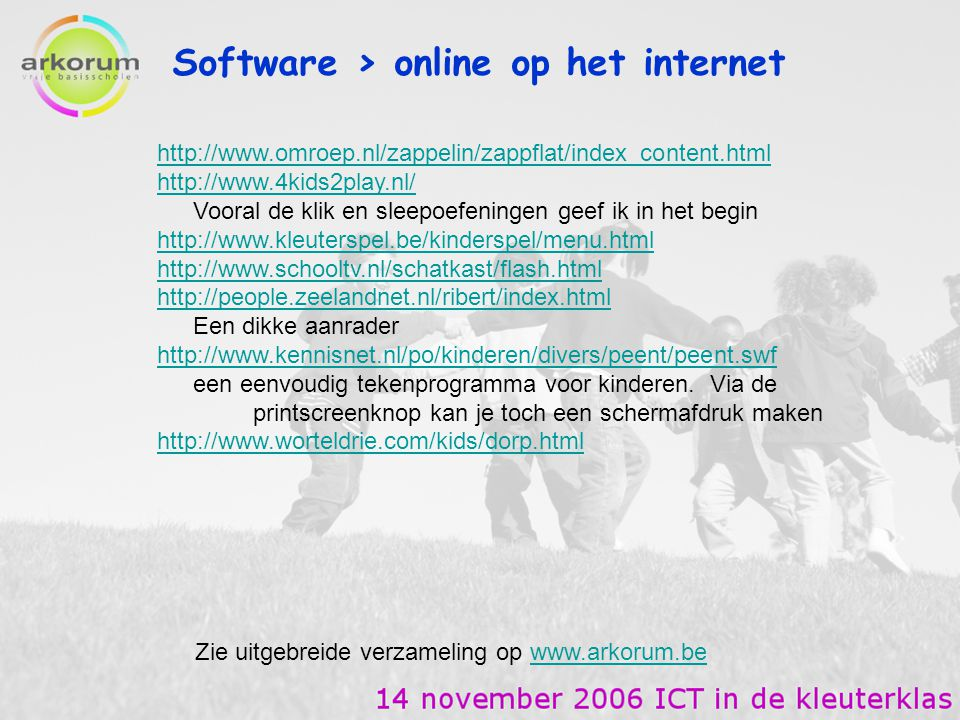 Software > online op het internet