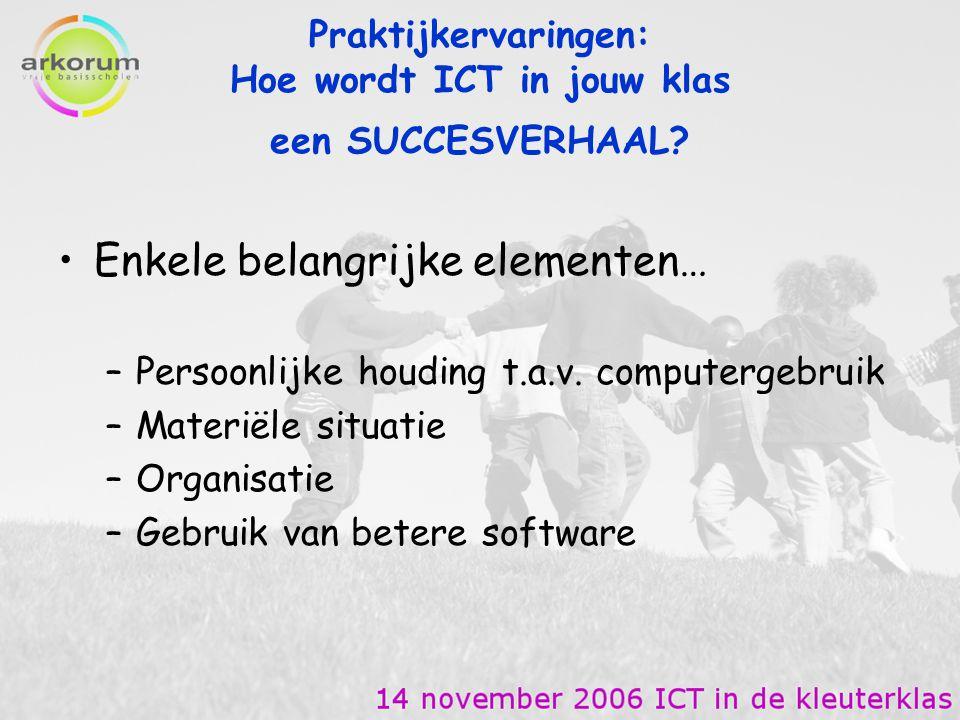 Praktijkervaringen: Hoe wordt ICT in jouw klas een SUCCESVERHAAL