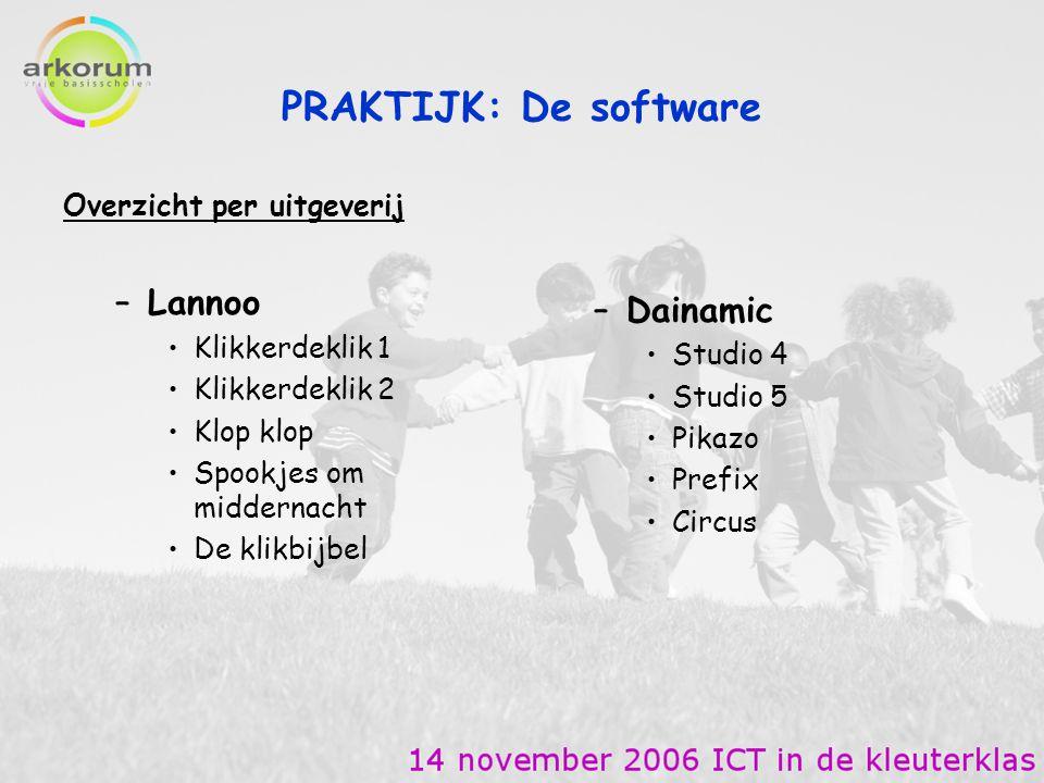PRAKTIJK: De software Lannoo Dainamic Overzicht per uitgeverij