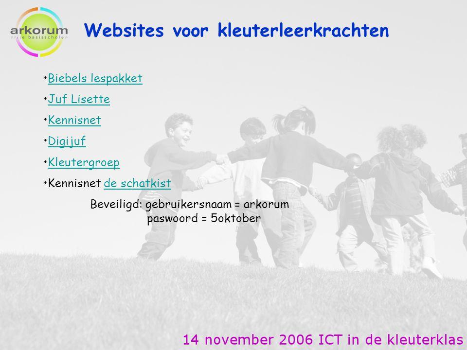 Websites voor kleuterleerkrachten