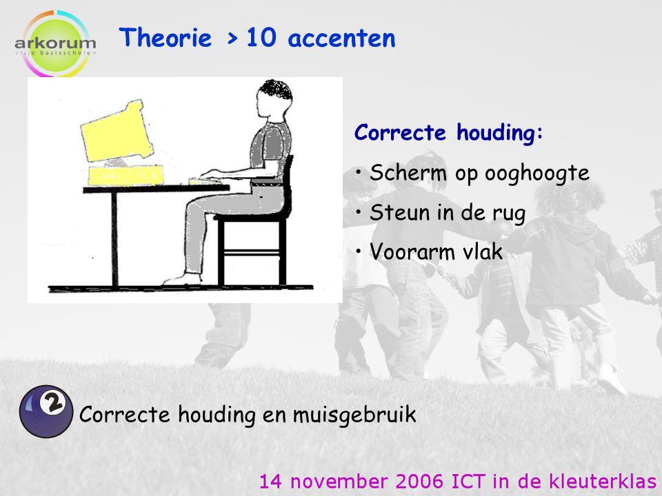 Theorie > 10 accenten Correcte houding: Scherm op ooghoogte