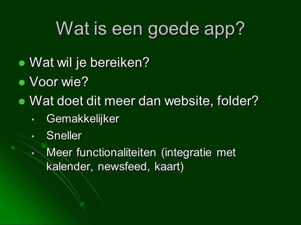 Wat is een goede app Wat wil je bereiken Voor wie