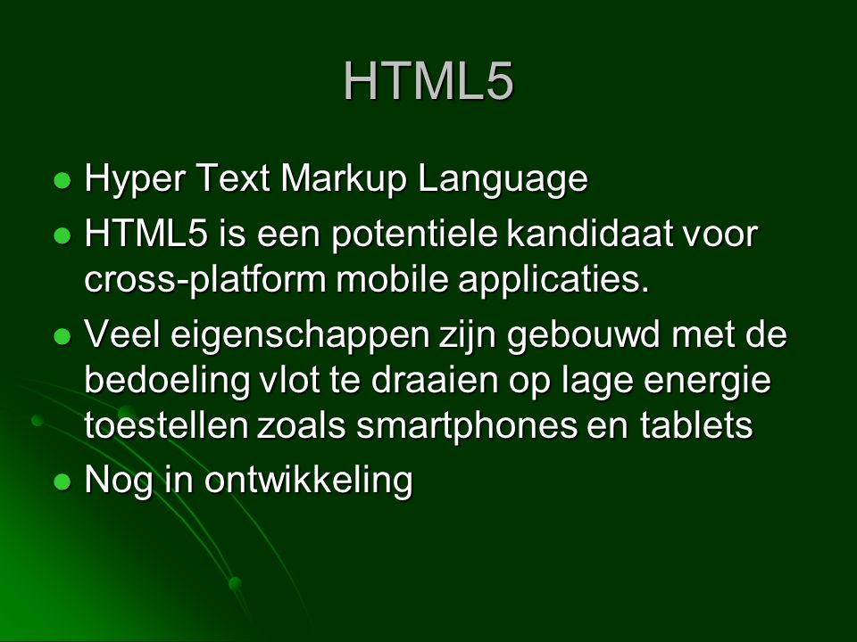 HTML5 Hyper Text Markup Language