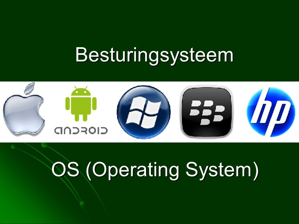 Besturingsysteem OS (Operating System)