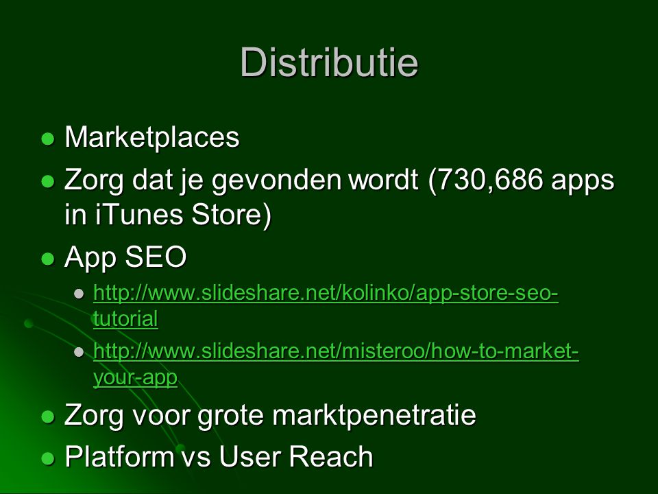 Distributie Marketplaces