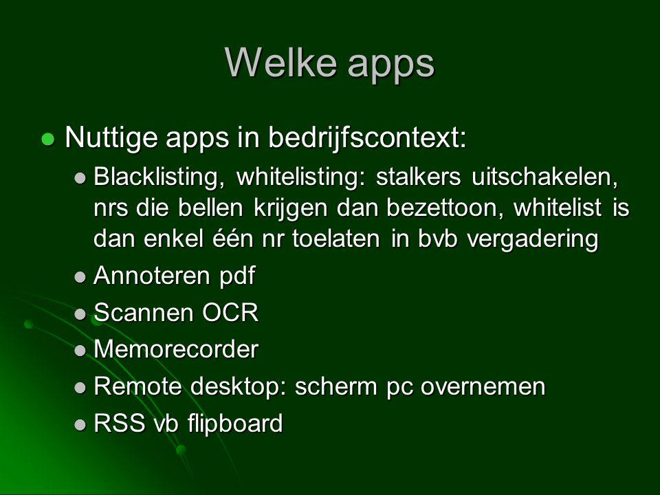 Welke apps Nuttige apps in bedrijfscontext: