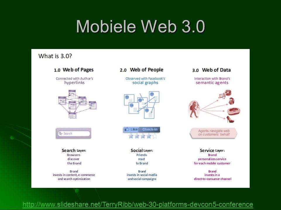 Mobiele Web 3.0 http://www.slideshare.net/TerryRibb/web-30-platforms-devcon5-conference