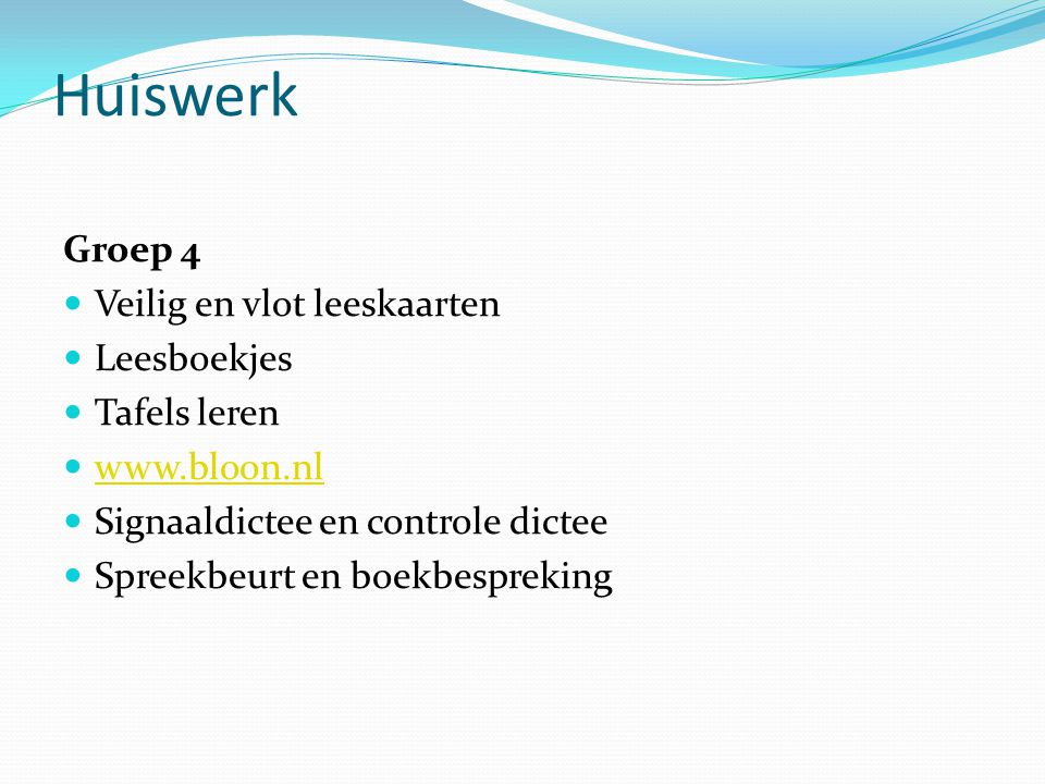 Huiswerk Groep 4 Veilig en vlot leeskaarten Leesboekjes Tafels leren