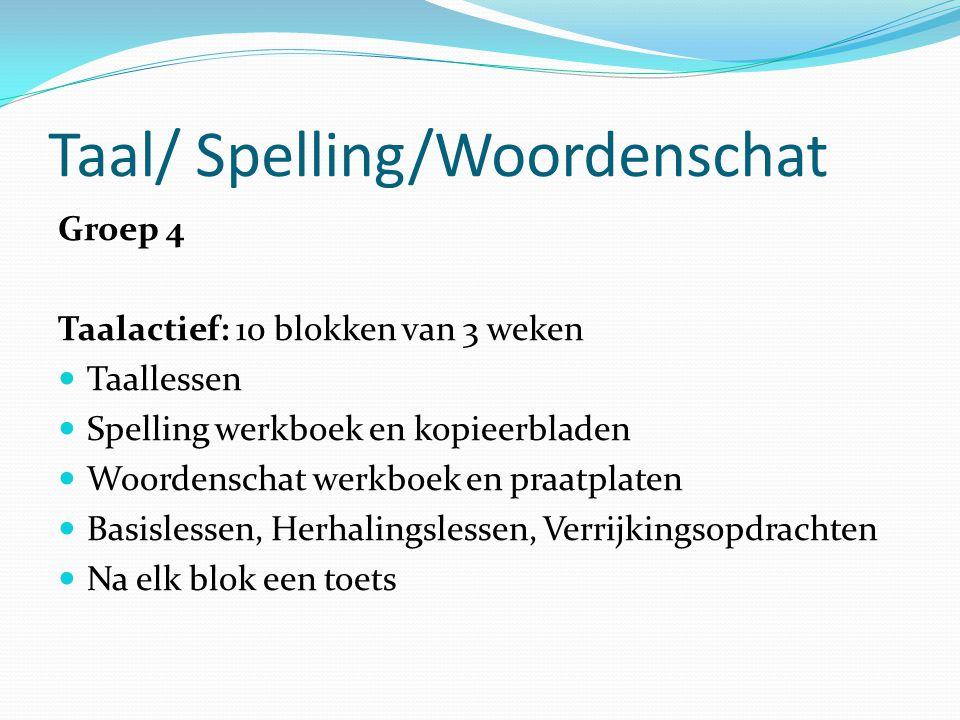 Taal/ Spelling/Woordenschat
