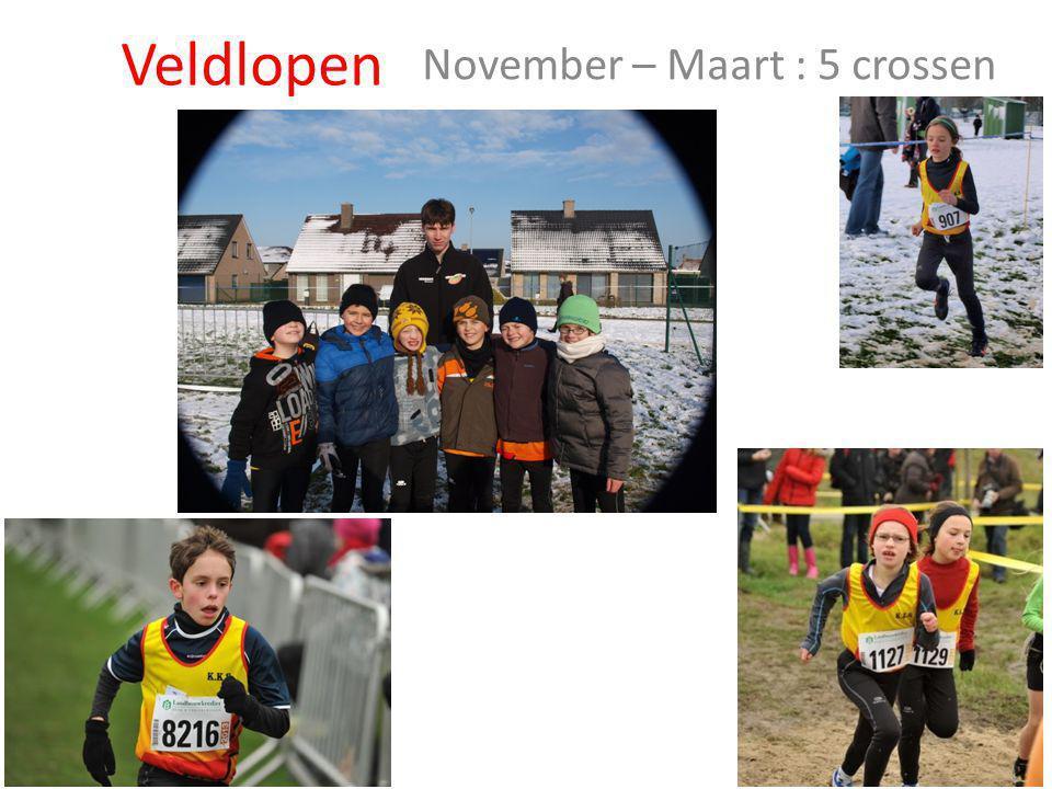 November – Maart : 5 crossen