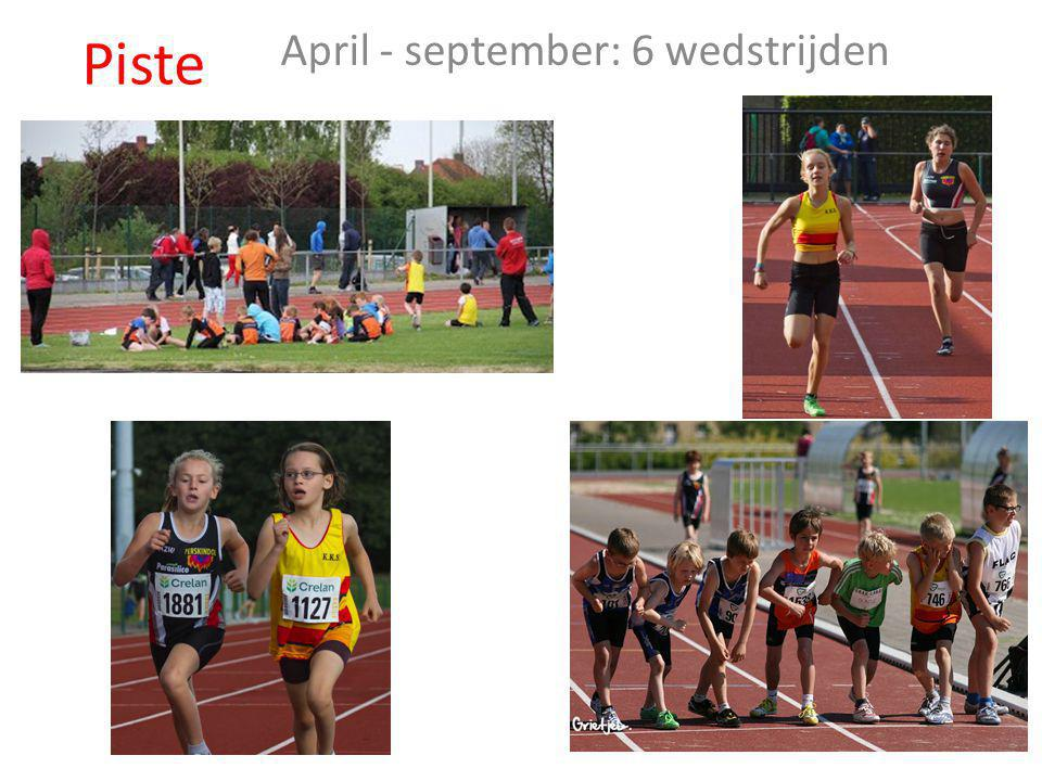 April - september: 6 wedstrijden