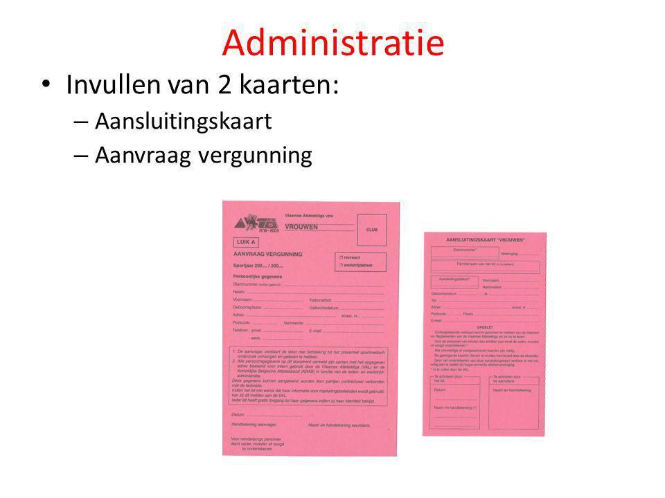 Administratie Invullen van 2 kaarten: Aansluitingskaart