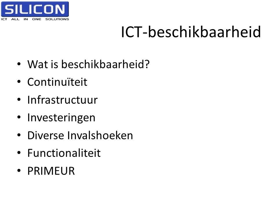 ICT-beschikbaarheid Wat is beschikbaarheid Continuïteit