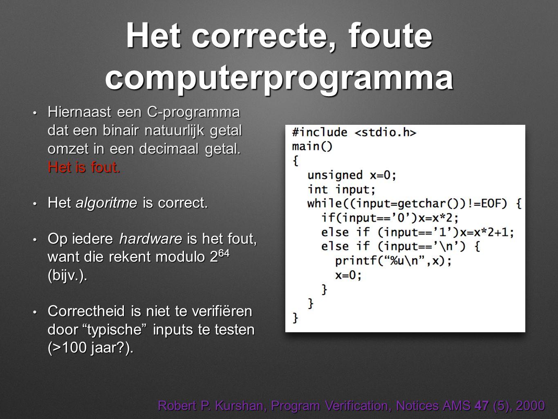 Het correcte, foute computerprogramma