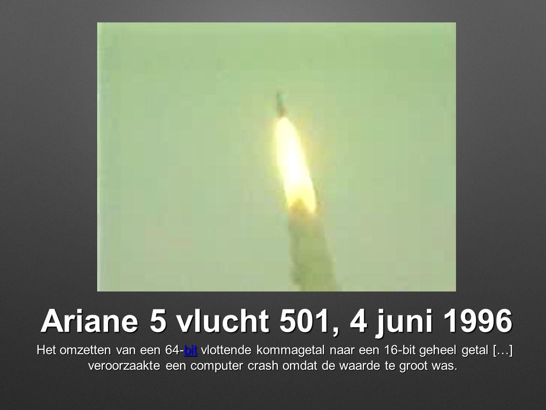 Ariane 5 vlucht 501, 4 juni 1996