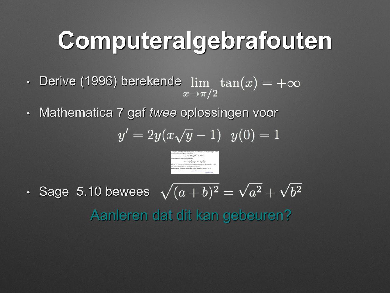 Computeralgebrafouten