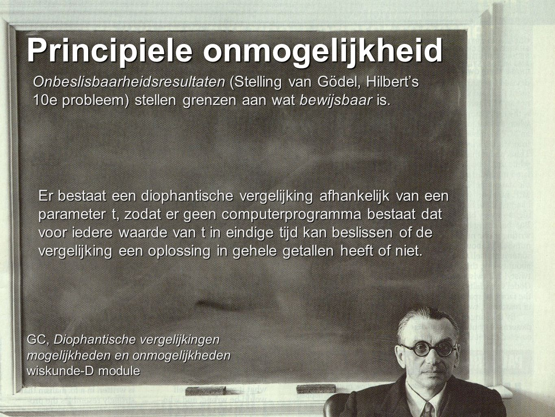 Principiele onmogelijkheid
