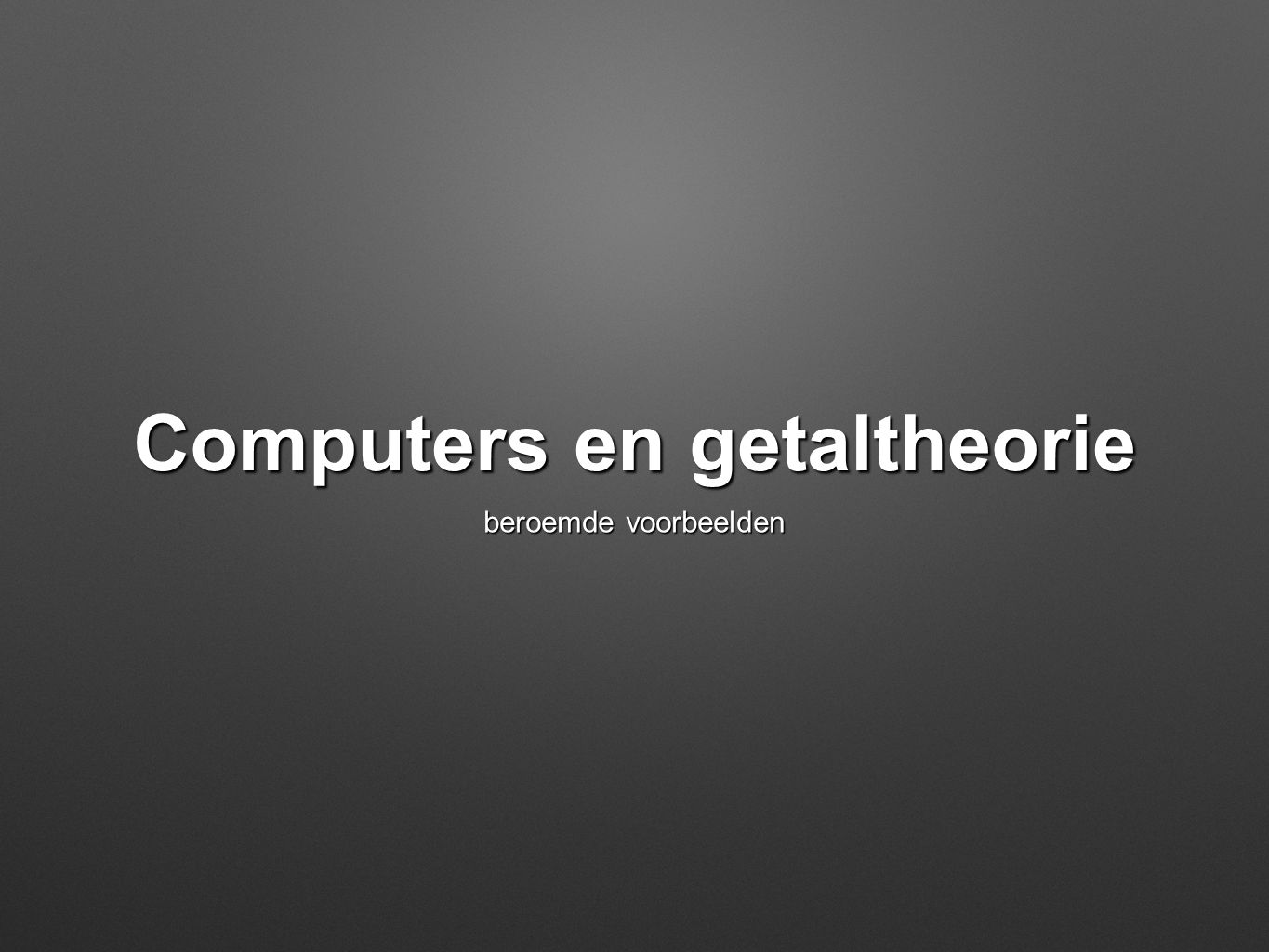 Computers en getaltheorie
