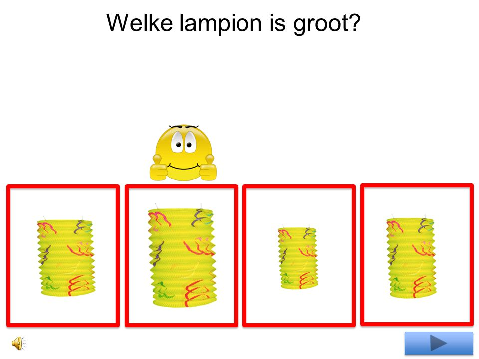 Welke lampion is groot