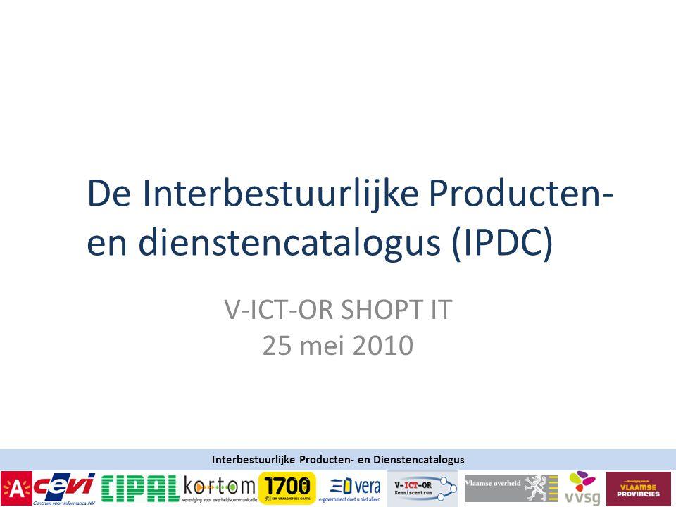 De Interbestuurlijke Producten- en dienstencatalogus (IPDC)