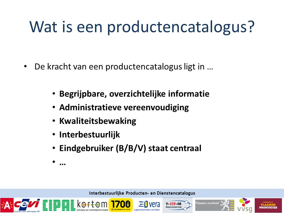 Wat is een productencatalogus