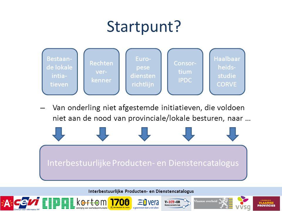 Startpunt Interbestuurlijke Producten- en Dienstencatalogus