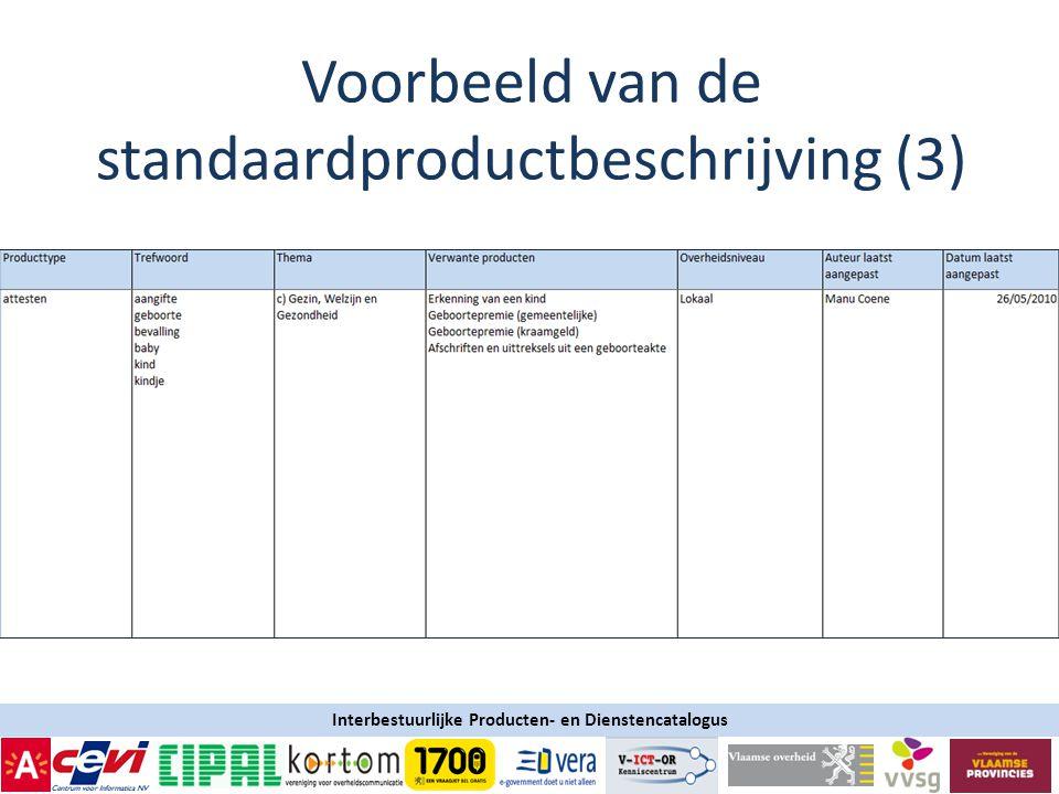 Voorbeeld van de standaardproductbeschrijving (3)
