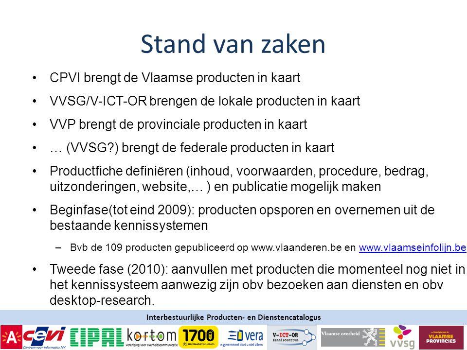 Stand van zaken CPVI brengt de Vlaamse producten in kaart