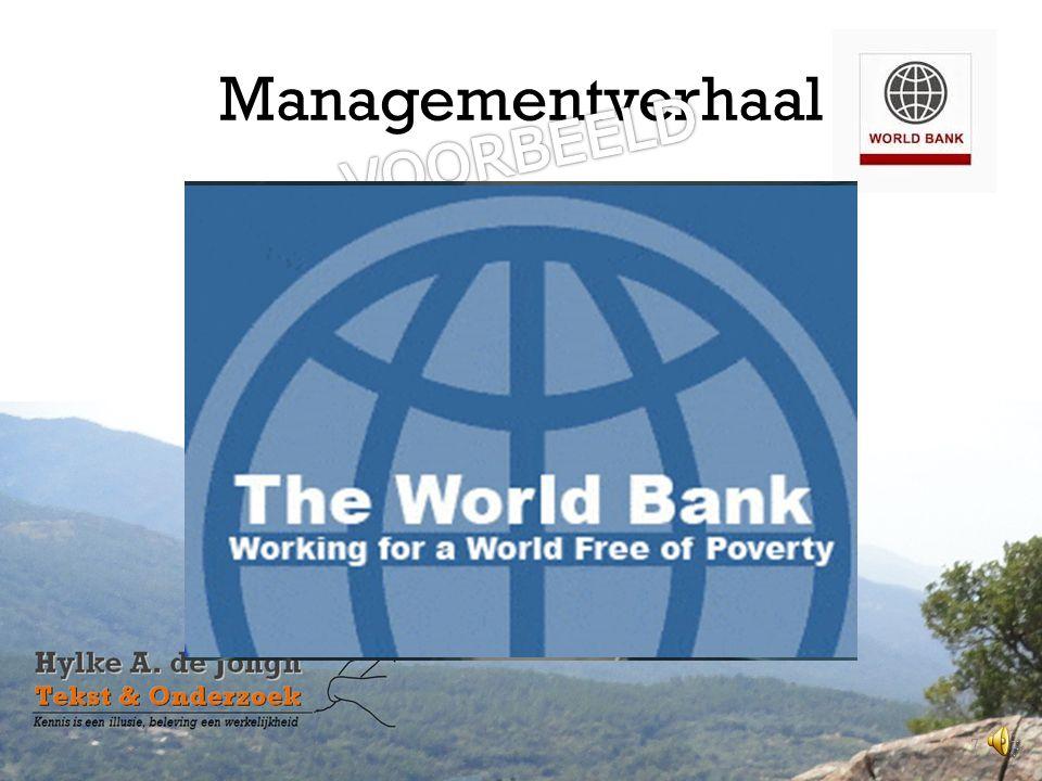 Managementverhaal VOORBEELD