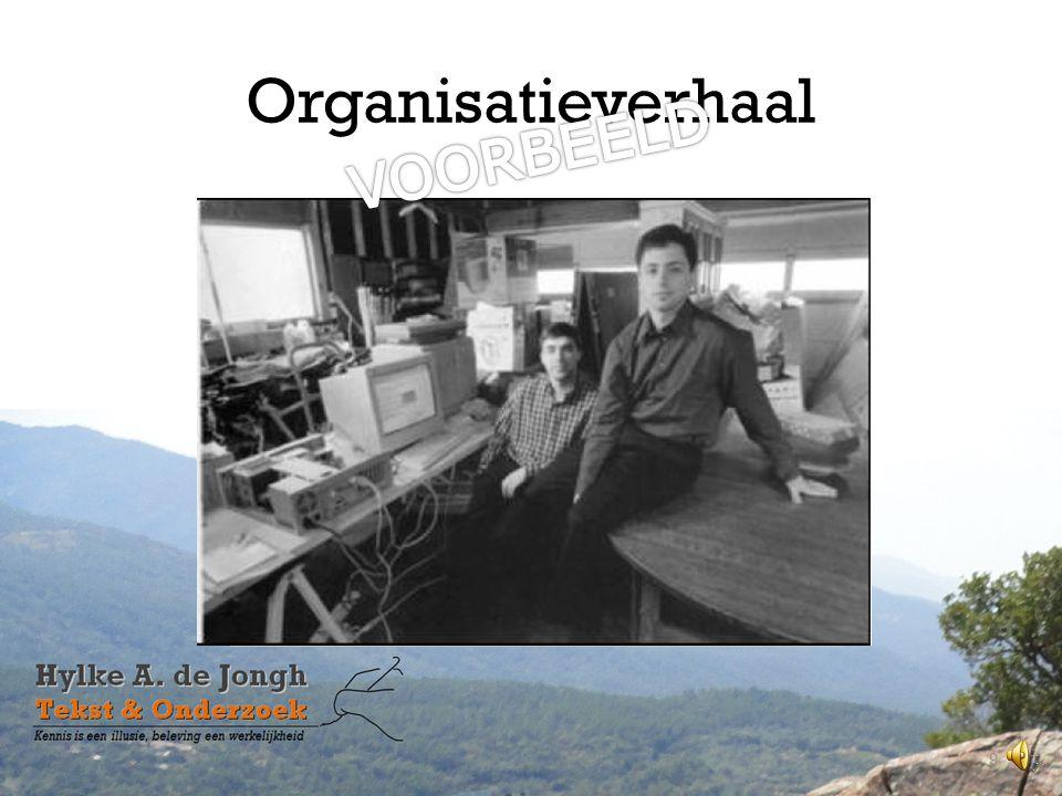 Organisatieverhaal VOORBEELD