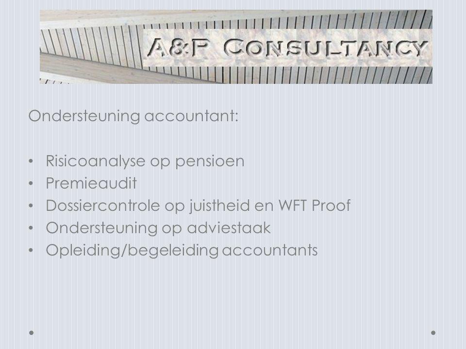 Ondersteuning accountant: