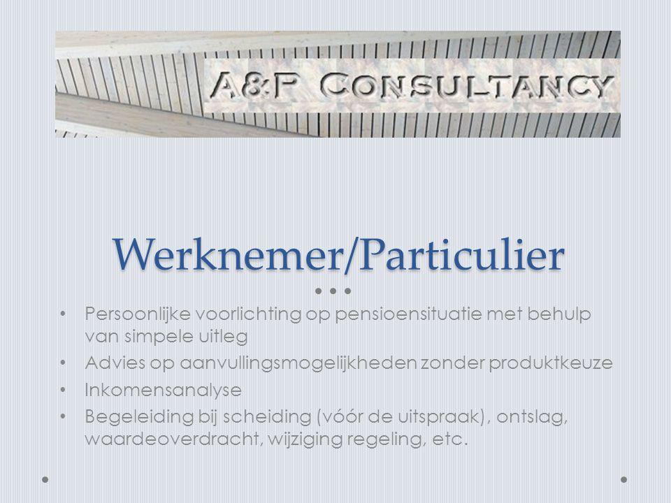 Werknemer/Particulier