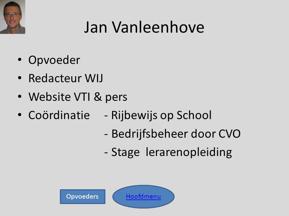 Jan Vanleenhove Opvoeder Redacteur WIJ Website VTI & pers