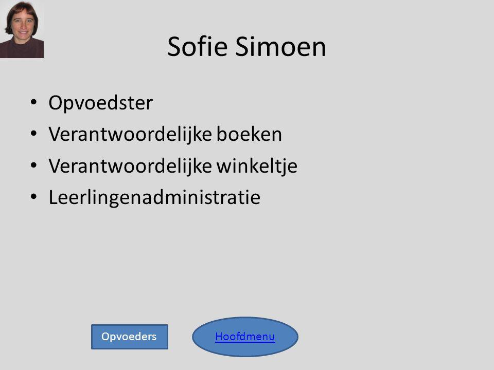 Sofie Simoen Opvoedster Verantwoordelijke boeken