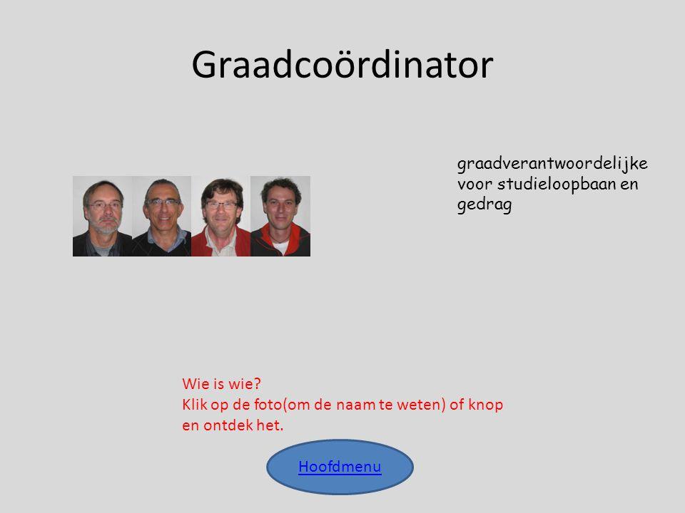 Graadcoördinator graadverantwoordelijke voor studieloopbaan en gedrag