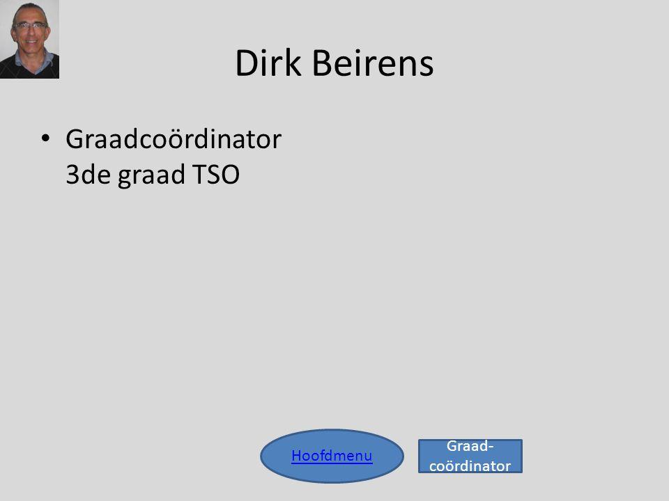 Dirk Beirens Graadcoördinator 3de graad TSO Hoofdmenu