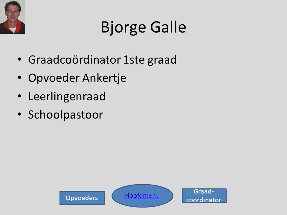 Bjorge Galle Graadcoördinator 1ste graad Opvoeder Ankertje