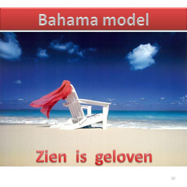Bahama model Zien is geloven