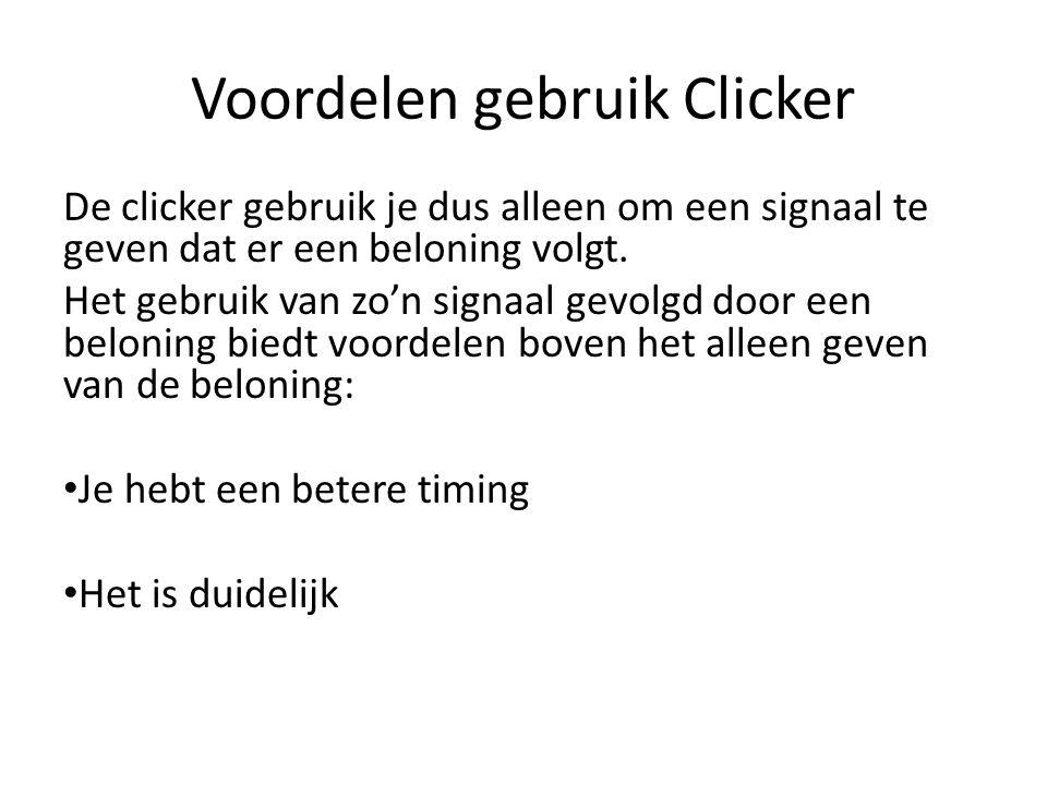 Voordelen gebruik Clicker