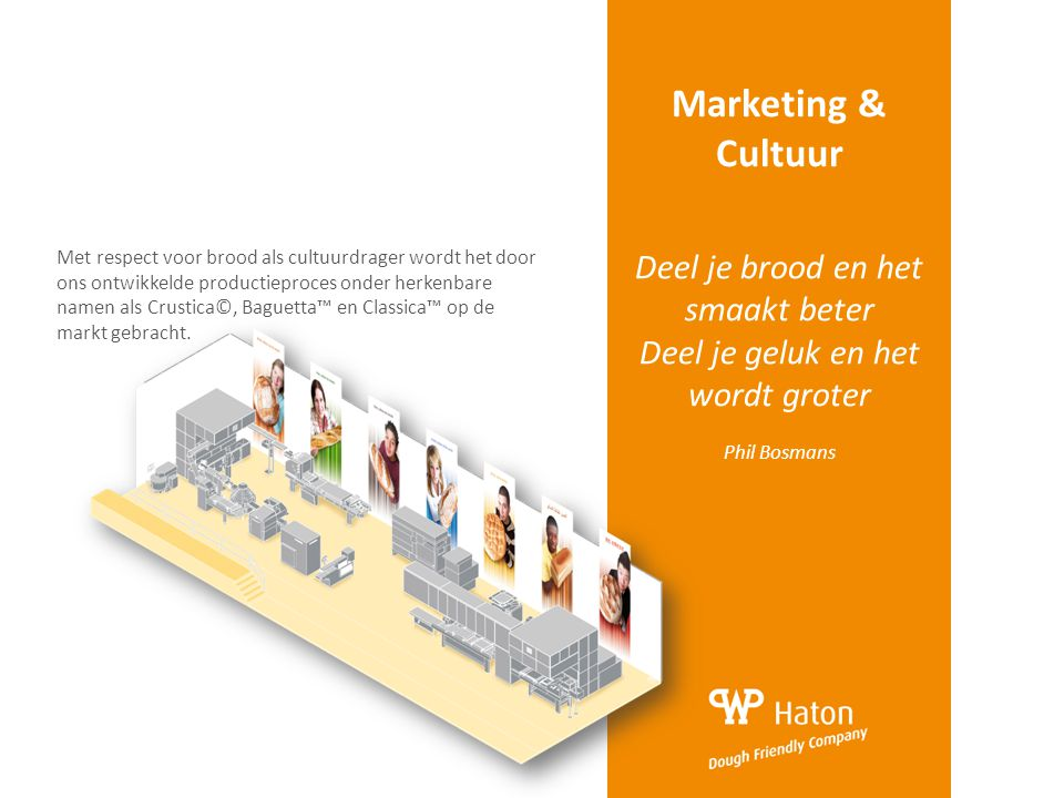 Marketing & Cultuur Deel je brood en het smaakt beter