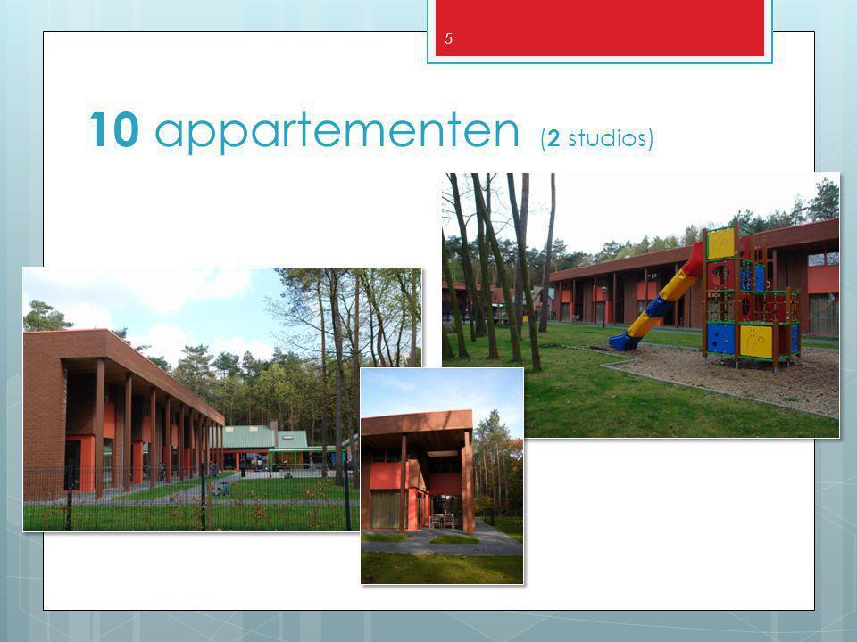 10 appartementen (2 studios)